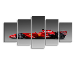 $enCountryForm.capitalKeyWord Australia - 5 pieces high-definition print sports car canvas oil painting poster and wall art living room picture C5-41
