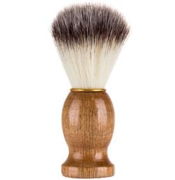 $enCountryForm.capitalKeyWord UK - Barber Hair Shaving Razor Brushes Natural Wood Handle Beard Brush For Men Best Gift Barber Tool Men Gift Barber Tool Mens Supply