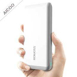 cell phone external battery banks 2019 - ROMOSS Portable 2.5D Edge External Battery Charger 10000mAh Power Bank for Cell Phone for iPhone 8 7 Plus Retail Package