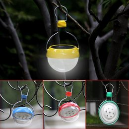 $enCountryForm.capitalKeyWord NZ - Wholesale Free shipping Outdoor Portable LED Solar Power Emergency Hanging Lantern Hiking Camping Lamp Tent Light yellow blue red green