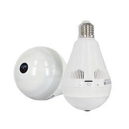 Wholesale Home Security Camera UK - 960P 360 degree Wireless IP Camera Bulb Light FishEye Smart Home CCTV 3D VR Camera 1.3MP Home Security WiFi Camera Panoramic