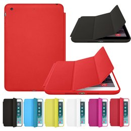 Ipad aIr leather cases online shopping - For iPad Pro Mini Air Foldable Magnetic Smart Cover Matte Cases silk pattern Cover With Auto Sleep Wake