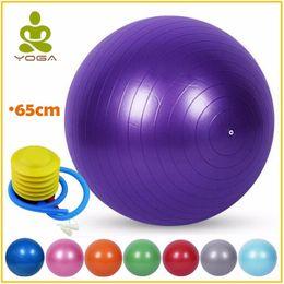 Hiah Qualité Antidéflagrant 65 cm Balles De Yoga Bola Pilates Massage  Fitness Gym Balance Fitball Exercice Pilates Séance D entraînement avec  Pompe 1fd762e534e82