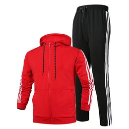 China New Arrival Fashion Tracksuits Men Women Sweatsuit 2018 New Fashion Outdoor Sportwear Luxury Sport Suit Cardigan Hooded Long Sleeve Active cheap sweatsuit men suppliers