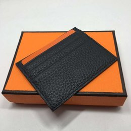 $enCountryForm.capitalKeyWord Australia - Fashion Classic Design Casual Credit Card ID Holder Real Leather Ultra Slim Wallet Packet Bag For Men Women High Quality