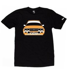 Neck Plate NZ - Mens T Shirts Fashion 2018 Ford Escort Mk2 Rs1800 Rs2000 Choose Car Colour & Plate Round Neck Men Top Tee