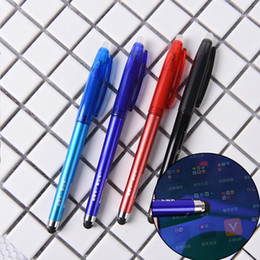 $enCountryForm.capitalKeyWord Australia - 1pcs funny Erasable Gel PenTouchable Erasable Pens magic pen Ballpoint Ink Pen for Phone Tablet Touch Screen