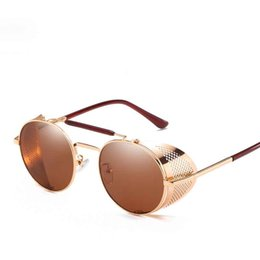 $enCountryForm.capitalKeyWord UK - designer sunglasses for men Retro Vintage mirror shades mens cool sunglasses rose gold female 2019 new trendy eyewear UV 400