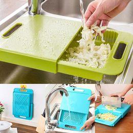 $enCountryForm.capitalKeyWord NZ - Kitchen Chopping Block Sinks Drain Basket Cutting Board Meat Vegetable Fruit Antibacterial Non-slip Cutting Board With Storage