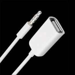 Usb Audio Jack Music Australia - HOT 3.5mm Male AUX Audio Plug Jack To USB 2.0 Female Converter Cord Cable Car MP3 MUSIC