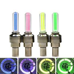 FireFlies lights For bikes online shopping - Hot Selling Firefly Spoke LED Wheel Valve Stem Cap Tire Motion Neon Light Lamp For Bike Bicycle Car Motorcycle