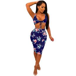 1a9c010a14 Two Piece Set 2018 Summer women crop tops and Pencil Skirts Sets 2pcs Navy  Blue outfits 2 piece set women matching sets CL684