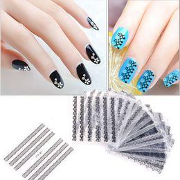$enCountryForm.capitalKeyWord Australia - Yinikiz Black White Lace Nail Stickers 30pcs Women Nail Gel Decoration Accessories 3D Decal Wraps Art Stickers