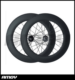 $enCountryForm.capitalKeyWord Australia - 88C 700C carbon wheelset,88mm clincher tubular, track bicycle fixed gear street bike carbon wheel