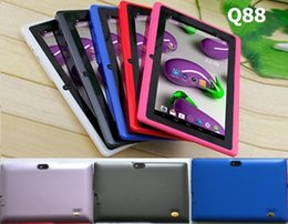 A33 Quad Core Tablet Australia - Q8 7 inch tablet PC A33 Quad Core Allwinner Android 4.4 KitKat Capacitive 1.5GHz 512MB RAM 4GB ROM WIFI Dual Camera Flashlight Q88