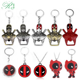 $enCountryForm.capitalKeyWord NZ - RJ 20Pcs Deadpool Mask Bottle Opener Keychains Men Car Xmas Gift Movie DC Anime Superhero Keyring Souvenir Cosplay Jewelry