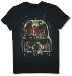 $enCountryForm.capitalKeyWord NZ - Slayer Albums Collage Art Skull Helmet Black T Shirt New Official Band Merch Loose Black Men Tshirts Homme Tees