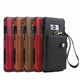 Vente en gros Luxe PU En Cuir Portefeuille Cas De Téléphone Portable Pour Samsung Galaxy S8 Plus S9 Plus Note 9 Couverture de Téléphone avec Titulaire De La Carte de Crédit Tissu