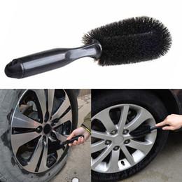 Car sCrub online shopping - 2018 Car Wheel Tire Rim Scrub Brush Washing Cleaner Vehicle Cleaning Tool Car Wheel Brush Wheel Cleaning Brush DHL