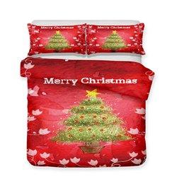 Discount 3d christmas bedding - Merry Christmas Printed Bedding Sets All Sizes Pillow Case Quilt Cover Duvet Cover