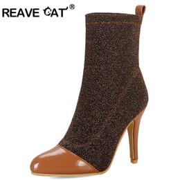 1ba3ab3e Zapatos de tacón gato online-REAVE CAT Zapatos mujer Botas a media pierna  Botas de