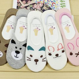 44ab973fc95 Hot Sale 1 Pair Pretty Women Lady Invisible Cotton Socks Low Cut Cartoon  Animal Brand New and High Quality Girl Sock