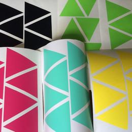 Pattern Decor Australia - 100pcs 5cm Removable triangles pattern Wall Stickers,nursery Geometric mural for Kids Room decor,M2S1
