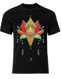 $enCountryForm.capitalKeyWord Canada - Mandala Art Illustration Henna Design Culture Print Mens Tee Shirt Top AH44 Cartoon t shirt men Unisex New Fashion tshirt Loose