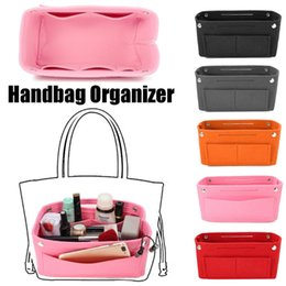 2e82c668dd THINKTHENDO Fashion Multifunction Handbag Organizer Purse Insert Bag Felt  Fabric Storage Cosmetic Makeup Bag Pouch Case Hot New