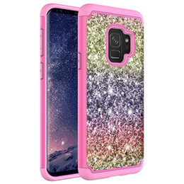 $enCountryForm.capitalKeyWord UK - Gradient Bling Glitter Shockproof Cell Phone Case Cover For iphone X 8 8 plus 6 6 plus samsung S8 S8plus TPU+Skin case Oppbag