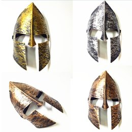knights helmet NZ - Spartan Warrior Helmet Mask Halloween Horror Mask Knight Hero Masquerade Full Face Masks For Halloween Christmas Party Decoration