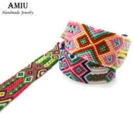 Vente en gros AMIU À La Main Populaire Marque Bracelet Grand Tissage Amitié Bracelet Brésilien Tissé Corde Chaîne Pour Femmes Hommes Chanceux Charme Bracelet
