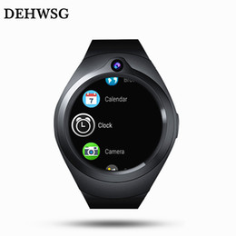 "quad core 1.3ghz UK - Smart Watch Y1 Android watch phone MTK6580M 1.3GHz Quad core 1.39"" AMOLED Full Round Screen RAM 1GB ROM 16GB Heart Rate"