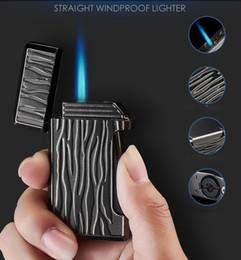 f2207faf60 DHL GRATUIT coupe-vent briquet portable unique Jet Flame Torch Rechargeable  Butane GAZ Cigarette Allume-cigare Pour Fumer OEM logo