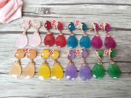 $enCountryForm.capitalKeyWord Australia - Fashion Water Drop Shape opal Crystal Earrings,Dangle Earrings Gem stone charms women Jewelry Druzy ER309