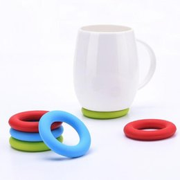 Coaster set holder online shopping - Ring Shape Silicone Coaster Cup Pot Holder Cup Holder Mat Heat Resistant Kitchen Gadget Table Protection Tools set