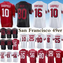 China San Francisco 49er jersey 10 Jimmy Garoppolo 25 Richard Sherman 80 Jerry Rice 16 Joe Montana 56 Reuben Foster new jerseys supplier new rice suppliers