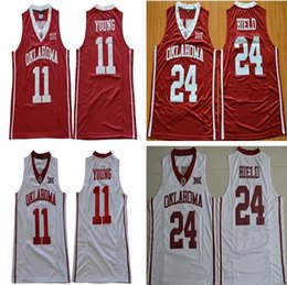 a8e05868dfeb NCAA Oklahoma Sooners  11 Trae Young  24 Buddy Heild Jerseys Stitched Red  White Best Quality College Basketball Jersey S-3XL