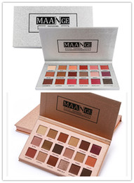 Silver makeup palette online shopping - Hot Makeup Brand MAANGE Colors Eyeshadow Palette Rose Gold Silver Matte Glitter Matallic Eye Shadow Powder Palette DHL shipping