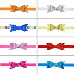 $enCountryForm.capitalKeyWord Australia - Fashion Lovely Kids Headband Cute Children Sequined Bow Knot For Pretty Girls Hot Sale Shiny Hair Band Hair Accessories