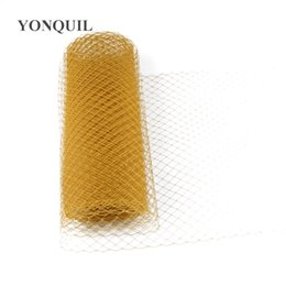 $enCountryForm.capitalKeyWord UK - Gold Birdcage Veils 25 CM For women Mesh Veils fascinator Millinery Hat nettings material DIY Hair accessories 10yard lot free shipping