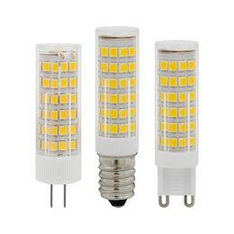 $enCountryForm.capitalKeyWord NZ - High Brightness Ceramic AC220V E14 G9 G4 3W 5W 7W LED Bulb Lamp Mini Corn Light 33 51 75 SMD 2835 Chip