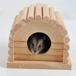 Cage small online shopping - Wooden Hamster Cage House New Creative Squirrel Totoro Nest Small Animal Supplies High Quality za C R
