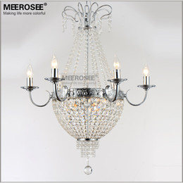$enCountryForm.capitalKeyWord Australia - French Empire Crystal Chandelier Light Fixture Vintage Crystal Lighting Wrought Iron White Chrome Black color