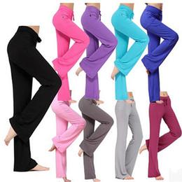 Yoga Pants Xxl NZ - Latin dance yoga pants Modal Fitness Leggings Sports Gym Exercise XXL loose sweatpants Solid Sweatpants Bloomers Harlan pants