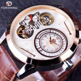$enCountryForm.capitalKeyWord NZ - Forsining Tourbillion Design Second Hand Small Dial Fashion Display Mens Watch Top Brand Luxury Calendar Automatic Wrist Watch