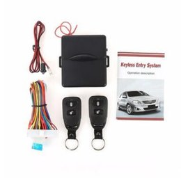 Auto Entry Kit Canada - Universal Alarm Systems Car Auto Remote Central Kit Door Lock Locking Vehicle Keyless Entry System New With Remote Controller CCA9543 10pcs