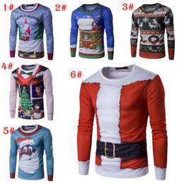 52bc1641 Personality Christmas tree 3D long sleeve Elk Avatar Print Long Sleeve T-Shirt  Men Fashion Sweat Top sweater