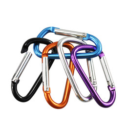 Climbing Hook Keychain Australia - 10PCs Outdoor Sports Multi Colors Aluminium Alloy Safety Buckle Keychain Climbing Button Carabiner Camping Hiking Hook
