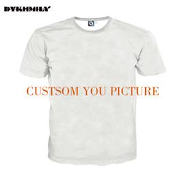 16ac9b293c783 Dykhmily Custom 3d Full Print T -Shirt Men O -Neck Best Ployester Quality Plus  Size 3d Print Customsize Tee Designer T Shirt